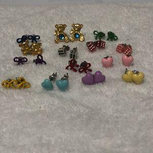 Lot of 14 stud earrings